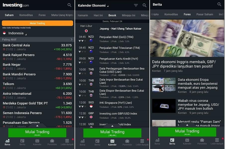 aplikasi investing.com yang membantu trader forex